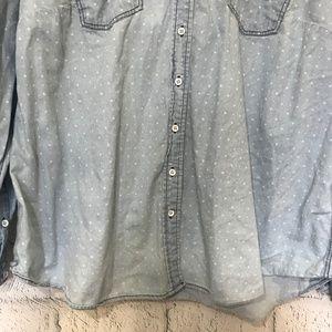 49d74e61d5a torrid Tops - Torrid Womens Size 3X Button Down Shirt Blue Star